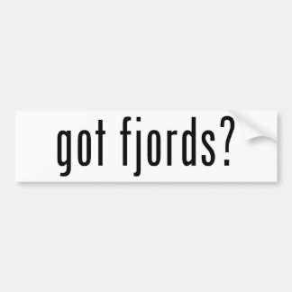 got fjords? bumper sticker