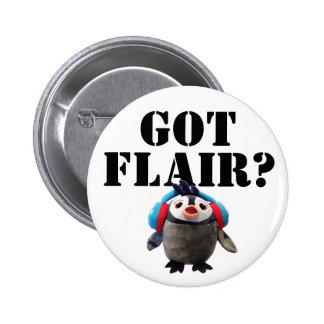Got Flair ? Cute Penguin 6 Cm Round Badge