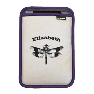 Got Flying Wings / Vintage Dragonfly Personalized iPad Mini Sleeve
