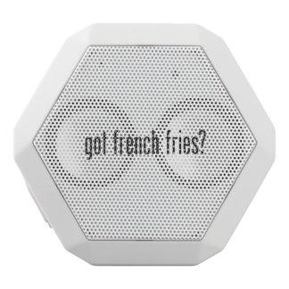 got french fries white boombot rex bluetooth speaker