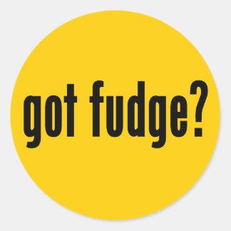 got fudge? classic round sticker