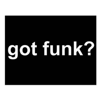 Got Funk Black Postcard
