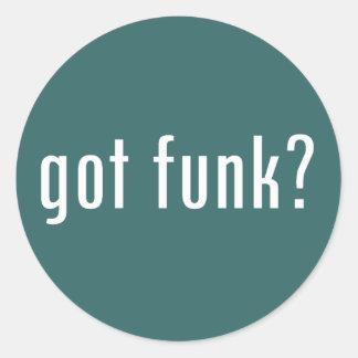 got funk? round sticker