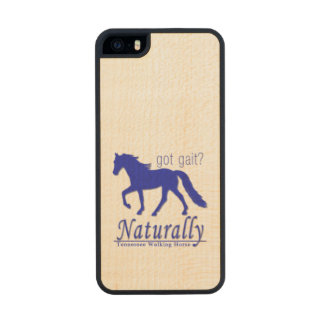 got gait? Naturally Tennessee Walking Horse Carved® Maple iPhone 5 Slim Case
