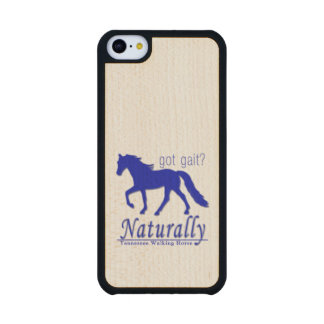 got gait? Naturally Tennessee Walking Horse Carved® Maple iPhone 5C Case