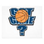 got game basketball design flyers
