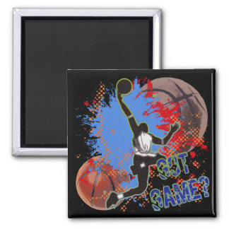 GOT GAME - BASKETBALL SQUARE MAGNET