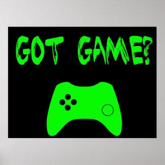 Got Game Funny Gamer Poster