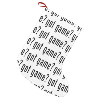 got game? small christmas stocking