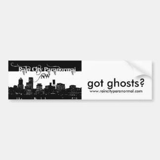 Got Ghosts Cityscape Bumpersticker. Bumper Sticker