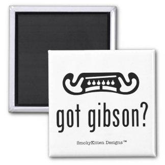 Got Gibson Guitar (Dark on Light) Square Magnet