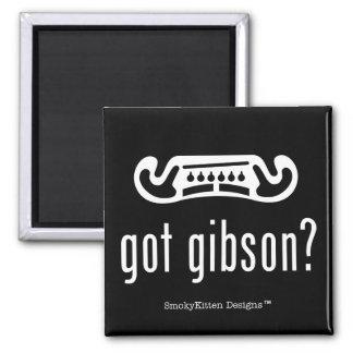 Got Gibson Guitar (Light on Dark) Square Magnet