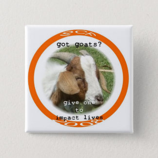 got goat 15 cm square badge