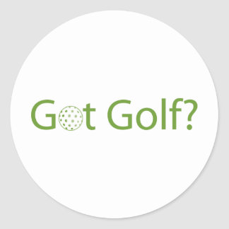 Got Golf Classic Round Sticker