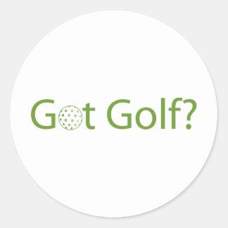 Got Golf Round Sticker