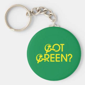 Got Green? Basic Round Button Key Ring
