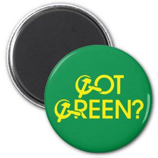Got Green? 6 Cm Round Magnet