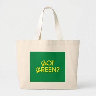 Got Green? Jumbo Tote Bag