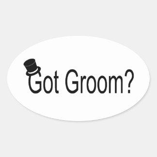 Got Groom Top Hat Oval Stickers