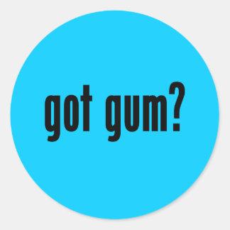 got gum? classic round sticker