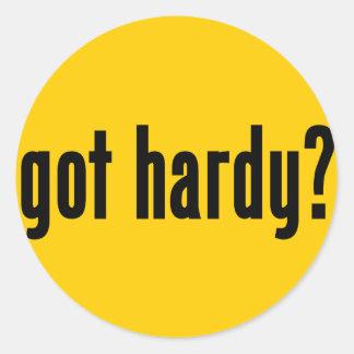 got hardy? round sticker