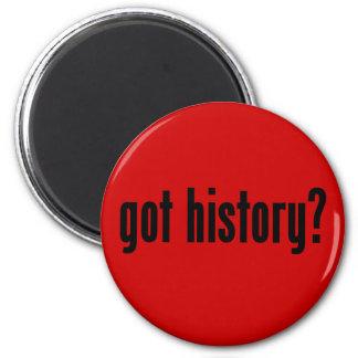 got history? 6 cm round magnet