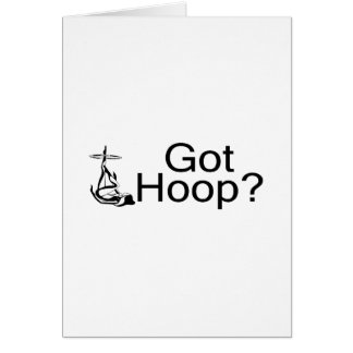Got Hoop Hula Hoop Girl Greeting Card