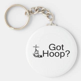 Got Hoop Hula Hoop Girl Basic Round Button Key Ring