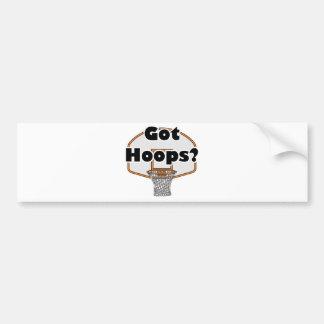got hoops basketball hoop bumper stickers