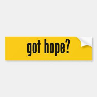 got hope? car bumper sticker