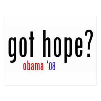 got hope? obama 08 postcard