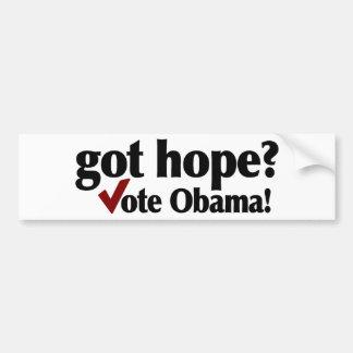 Got Hope Vote Obama Bumper Stickers