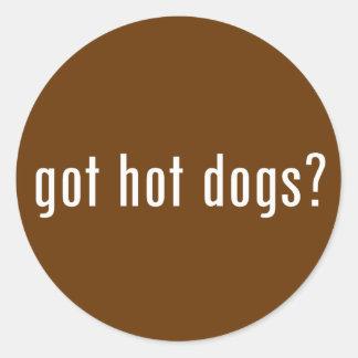 got hot dogs? classic round sticker