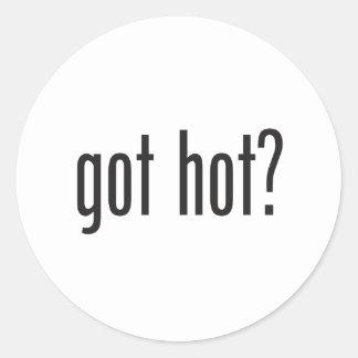 got hot round sticker