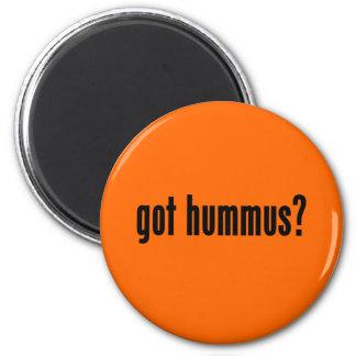 got hummus? 6 cm round magnet
