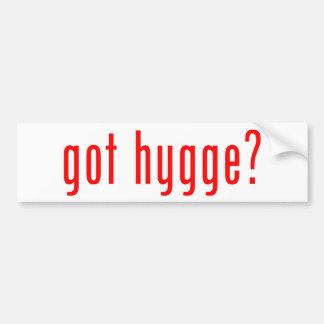 got hygge? bumper sticker