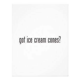got ice cream cones flyers