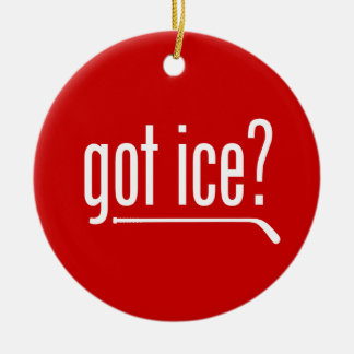 got ice? (hockey) round ceramic decoration