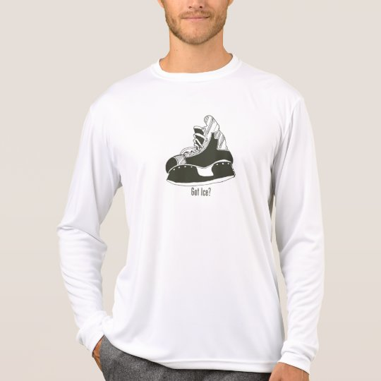 Got Ice? Hockey Skate Longsleeve Microfiber T-Shirt