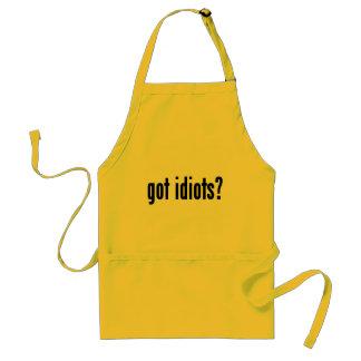 got idiots? standard apron