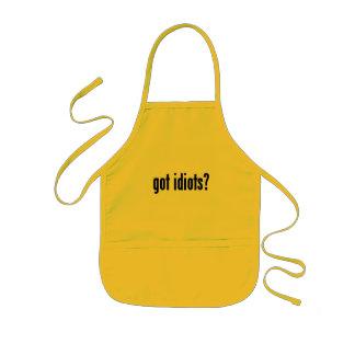 got idiots? kids apron