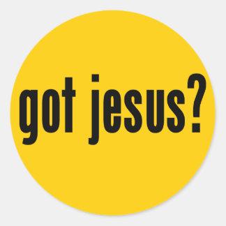 got jesus? classic round sticker