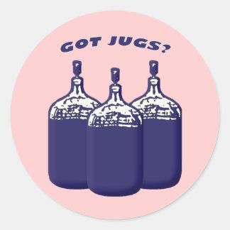 Got Jugs Round Sticker
