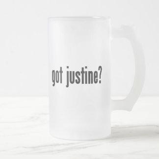 got justine? frosted glass mug