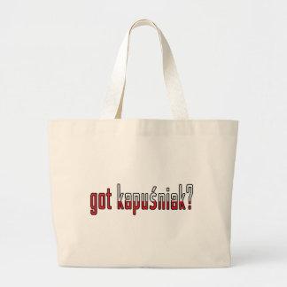 got kapusniak? Flag Tote Bags