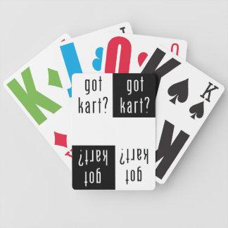 got kart? Playing Cards