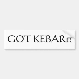 Got Kebari? Bumper Sticker