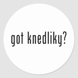 got knedliky? classic round sticker