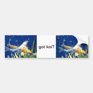 got koi? bumper sticker car bumper sticker