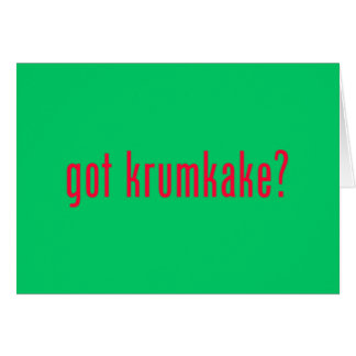 got krumkake? green greeting card